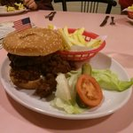 Amazing value food..... Half pound chilli burger...... £8.95