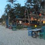 beachbar after sunset at khlong khong