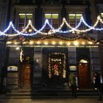 Frontage at Christmas