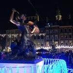 Mermaid Statue at Christmas
