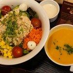 Tuna Salad with Soup