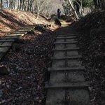 急な階段道