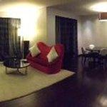downstairs of villa suite