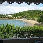 Blick vom Bungalow 304 auf den Sea Grape Beach