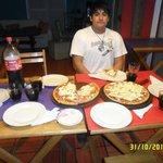cena en el comedor