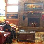 fire and lovely yellowstone books in the lobby