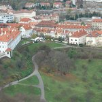 Quiet location on hill with scenic overlook of Prague
