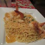Shrimp with angel hair