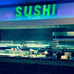 the Sushi counter.