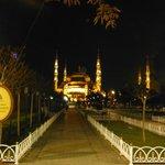 A proximité immédiate de l'hôtel : l'esplanade de la mosquée bleue