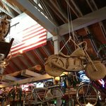 Wicker motorcycle at Rosie's in Tahoe City