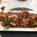 Pilons de poulet aux crevettes rouges