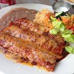 Spicy been enchiladas!