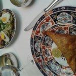 brick au thon et oeuf et salade d'artichaut