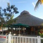 le restaurant vu depuis l'hôtel