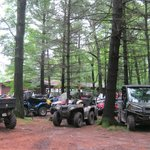 ATV's welcome - located on ATV trail