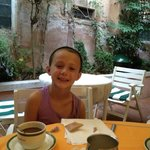 Hotel Saturnia Courtyard for Breakfast!  They had the best coffee!