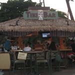 The Tiki bar by the pool