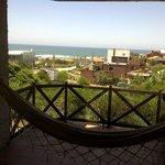 Balcón con hamaca