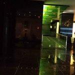 The bar to the left, nice lobby