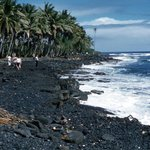 Enjoy the black sand beaches