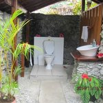 open air loo at the restaurant