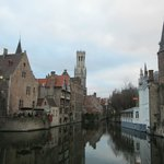 Most photographed shot in Bruges (and the hotel is on the left)