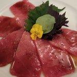 Blue fin tuna carpaccio. . Melt in mouth