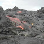 Lava flowing in Kalapana