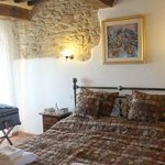 #5 Bedroom - loved the exposed stone wall and beams