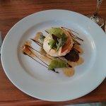 Starter - Portobello mushroom and goats cheese