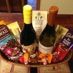 Custom Wine and Chocolate basket