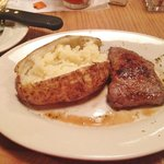 Delicious Sirloin steak and baked potato