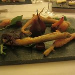 A tempura of baby vegetables starter