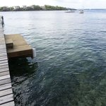 Dive Boat  Dock, on the Hotel