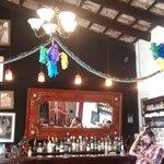 Inside the bar-restaurant