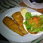 Fish, salad and chips
