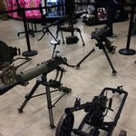 Some of the guns they have to shoot