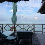 View from the terrace of our overwater villa