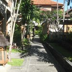 walkway from Adi Dharma cottages to hotel