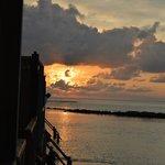 Sun set from villa