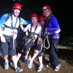 we all had a fun day zip lining