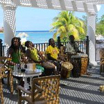 Bongo band next to the pool and bar