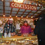The concession and volunteers