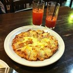 Chicken Pizza with Carrot Juice