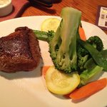 Outback special steak and seasonal veggies