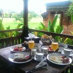 Peaceful nature in room breakfast in the morning is fantastic :) Even though it was raining duri