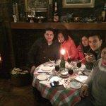 En el café de París cenando