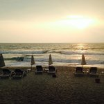 Morning sun at 7 am. @ hotel beach