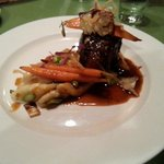 Beef Tenderloin with Roasted Vegetables and Brown Butter Gnocchi